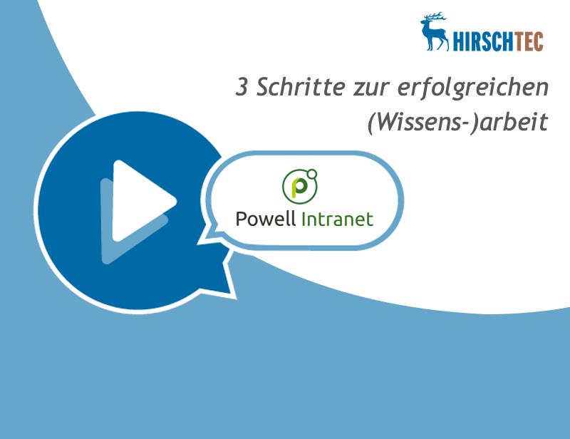 Ankündigung Webinar Wissensarbeit-Powell | HIRSCHTEC