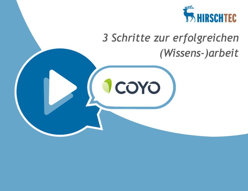 Ankündigung Webinar Wissensarbeit COYO | HIRSCHTEC