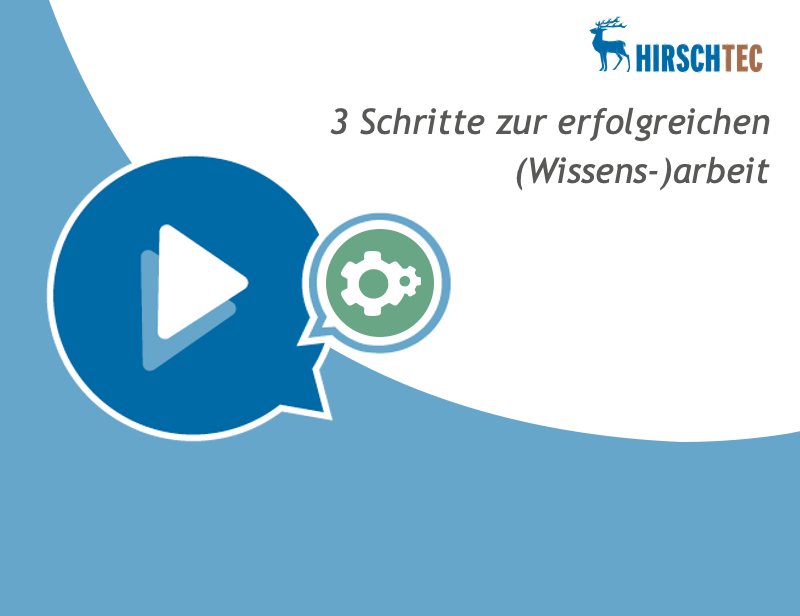 Ankündigung Webinar Wissensarbeit   HIRSCHTEC