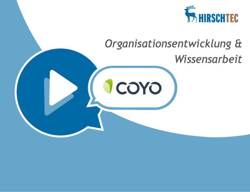 Ankündigung Webinar Organisationsentwicklung COYO | HIRSCHTEC