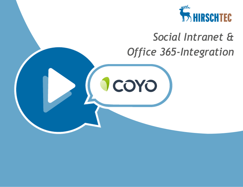 Ankündigung Webinar Social INtranet COYO mit O365-Integration | HIRSCHTEC