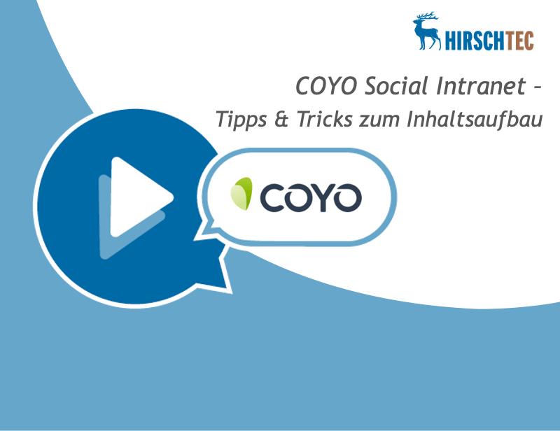 Ankündigung Webinar COYO-Tipps-Tricks | HIRSCHTEC